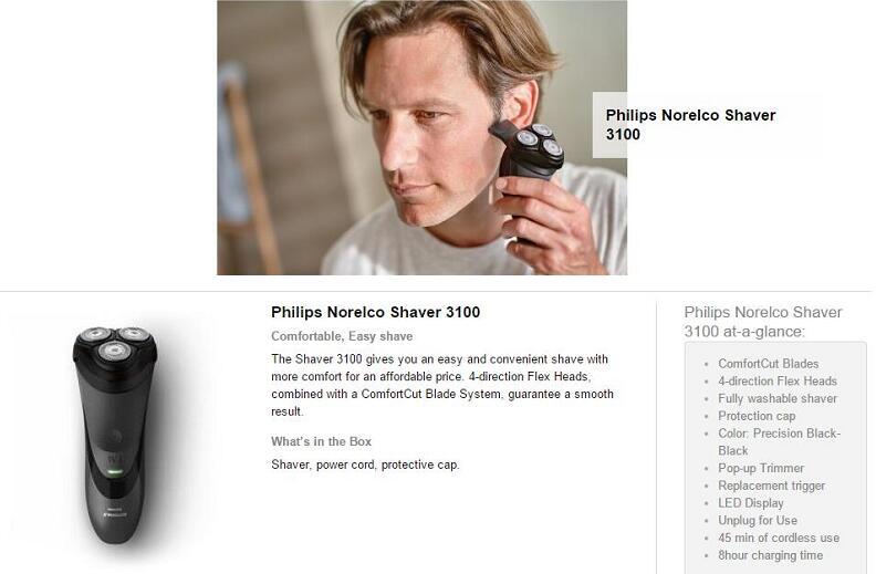 Philips Beard Trimmer Series 3100