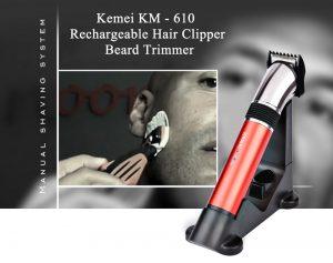 Kemei KM 610 Pro Electric Rechargeable Beard Trimmer